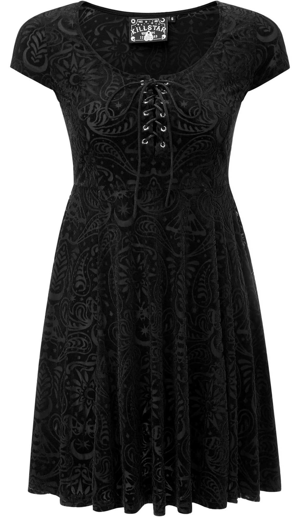 Killstar Angelyn Burnout Velvet Dress