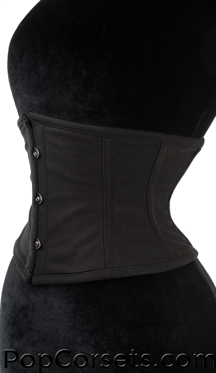 Black Cotton Waist Cincher