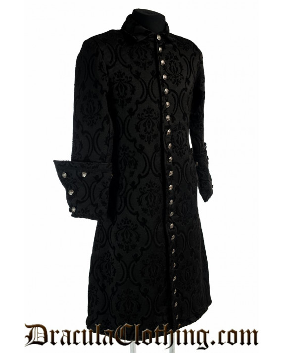 Black Brocade Admiral Coat