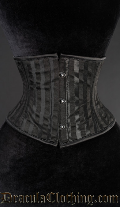Black Striped Waist Cincher