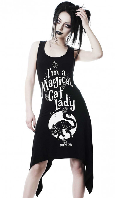Killstar Cat Lady Lace-Up Tunic