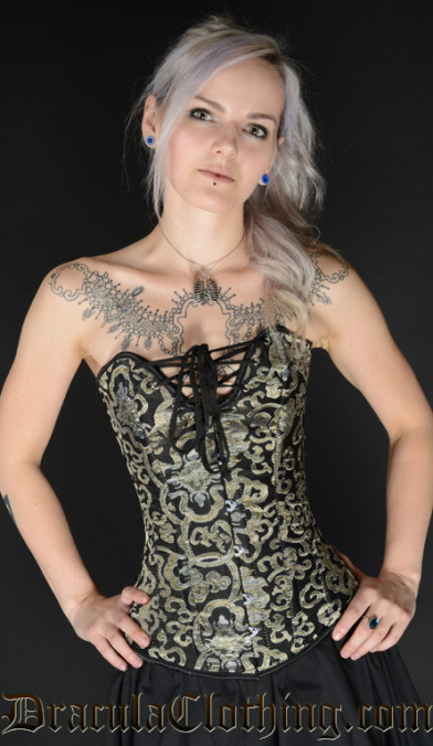 Gold Brocade Cleavage Corset