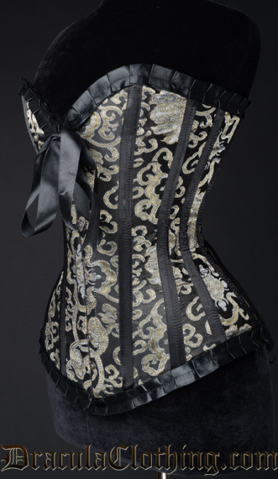 Gold Brocade Romantic Corset