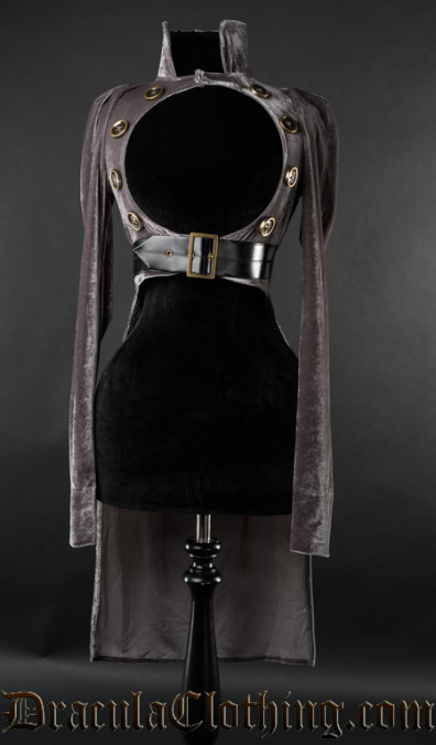 Grey Openbust Tailcoat