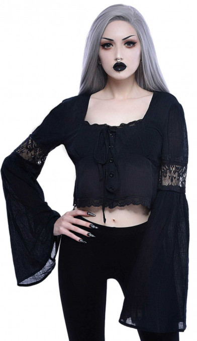 Killstar Haight Harlow Long Sleeve Top