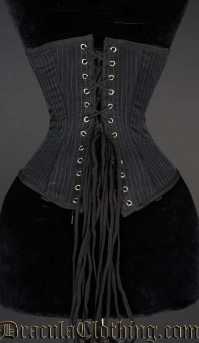 Pointed Pinstripe Clasp Corset