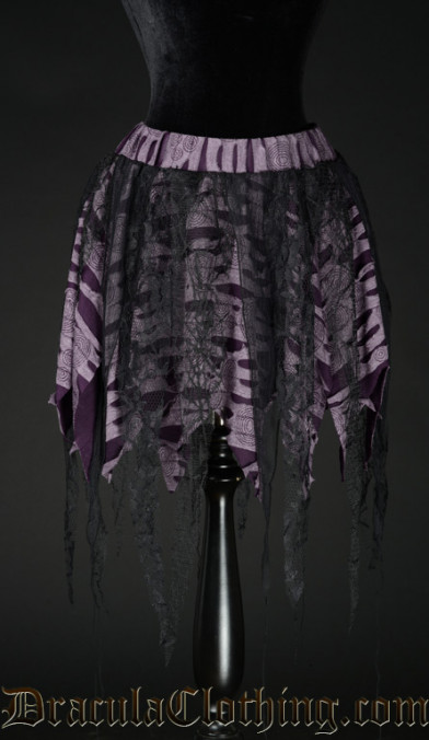 Purple Pointed Lace Skirt