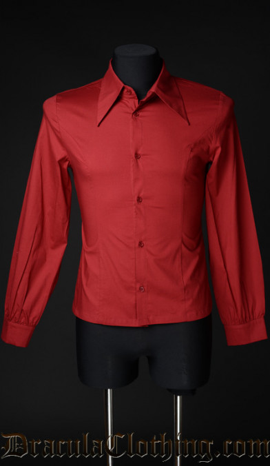 Red Cotton Marquis Shirt