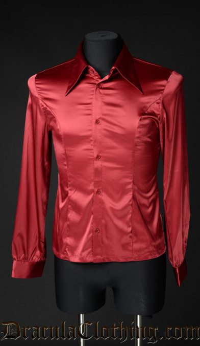 Red Satin Marquis Shirt