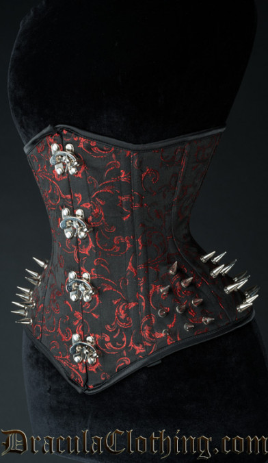 Ruby Extreme Waist Clasp Spike Corset