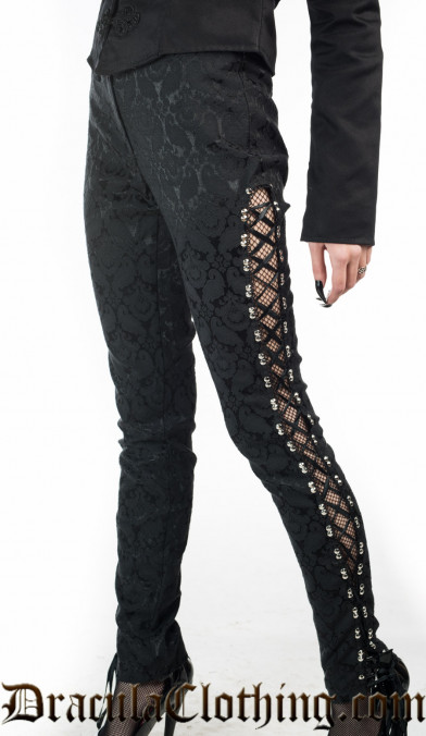 Side Laced Brocade Pants