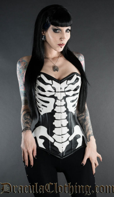 Skeleton Leather Corset