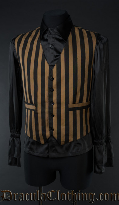 Steampunk Striped Vest