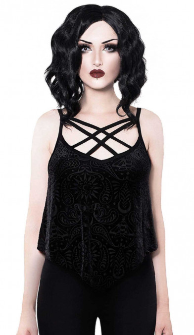 Killstar Thea Burnout Velvet Vest