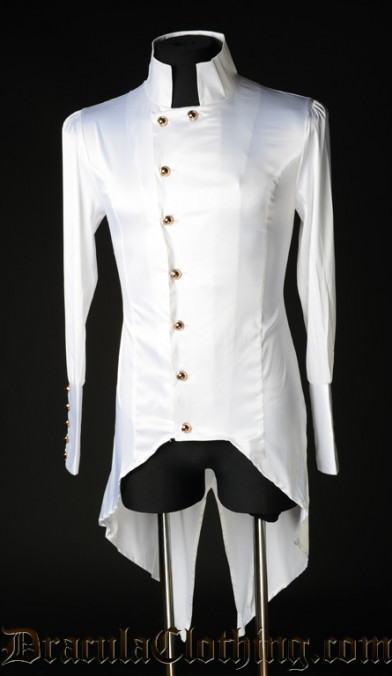 White Satin Regal Shirt