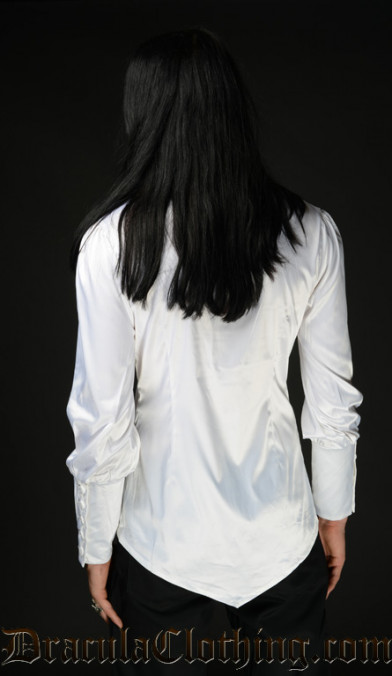 White Satin Cravat Shirt