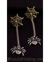 Black Spider Earrings