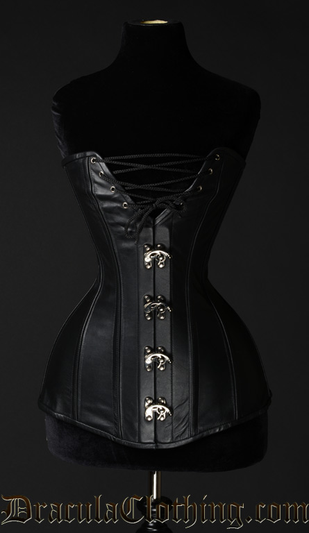 Leather Cleavage Clasp Corset