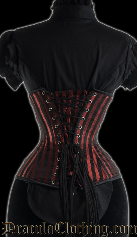Red Stripes Extreme Waist Clasp Corset
