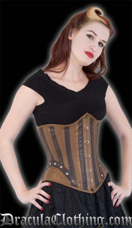 Steampunk Leather Corset Inverse