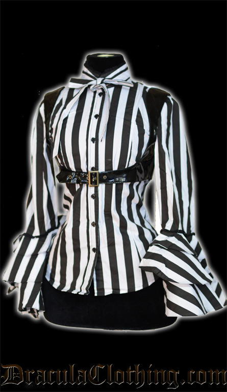 Striped Buckle Blouse